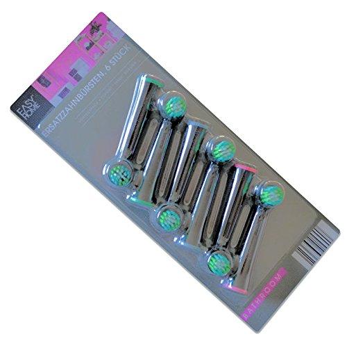 6 Stück Ersatzzahnbürsten - Ersatz-Zahnbürsten mit Tynex-Borsten von DuPont