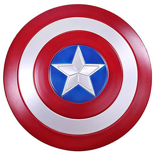 Captain America Shield Metal Captain America Custome Halloween Puntelli Cosplay per Adulti Bambino, Bar Shield Decorazioni da Parete 58Cm