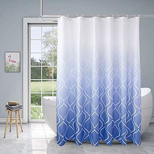 XCBN Geometriskt randmönster duschdraperi sanitär avdelning torr och våt separering vattentät och mögelbeständig duschdraperi A5 180 x 200 cm