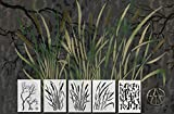 Acid Tactical 5 Pack - 14' Camouflage Airbrush Spray Paint Stencils - Duracoat Gun Duck Boat Camo - Cattails Bark & Gnarly Branch Set