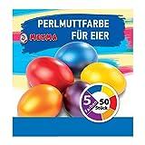 Metma B038 – Colori, 5 Pezzi, Giallo, Arancione, Rosso, Blu, Viola, con Guanto, pastiglie, Uova di Pasqua, Multicolore