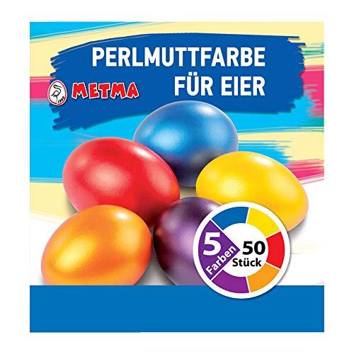 Metma B038 – Colori, 5 Pezzi, Giallo, Arancione, Rosso, Blu, Viola, con Guanto, pastiglie, Uova di...