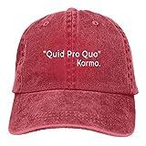 Jopath Quid Pro Quo Karma Gorra de béisbol, unisex, unisex, ajustable, gorra de camionero