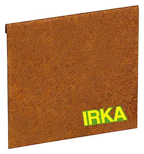 IRKA Verbinder Cortenstahl Rasenkantenband 20cm | Cortenstahl Metall Rasenkante Anschluss | flexibel Rasenkanten Edelrost| Stabile Beeteinfassung Metall Erweiterung| Verbindungsstück