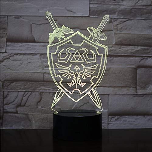 Zelda Leyenda Noche luz Mesa lámpara Juego Desierto ilusión Visual