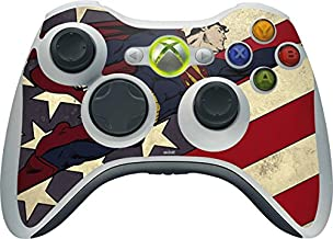 Skinit Decal Gaming Skin for Xbox 360 Wireless Controller - Officially Licensed Warner Bros Superman American Flag Design