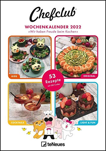 Chefclub 2022 Wochenkalender - Rezeptkalender - Küchenkalender - 23,7x34