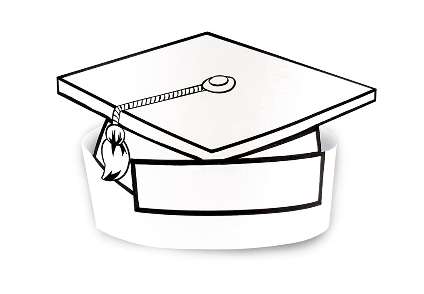 Hygloss Make-Your-Own Paper Grad Cap for Graduation 24 Piece (65280)