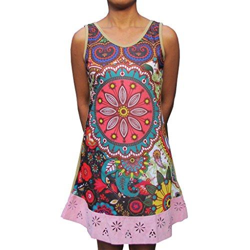 PANASIAM jurk, kleurrijke tunica, van katoen, in S, M, L en XL, kleine editie (outiqueware)