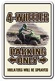 4-WHEELER Sign atv four wheeling 4x4 quad dirt 4-wheel   Indoor/Outdoor   12' Tall Plastic Sign
