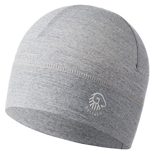 GIESSWEIN Mütze Gamsstein - Helm Unterziehmütze aus 100% Merino Wolle, Bike Cap, helmkompatible Passform, Sports Skull Beanie für Herren und Damen, Fahrradmütze, Laufen Skifahren, Radfahren