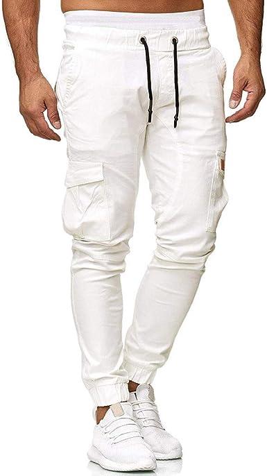 Pantalones Hombre Casuales Moda Color sólido Deportivos Running Pants Jogging Pantalon Fitness Gym Slim Fit Pantalones Largos Pantalones Ropa de ...