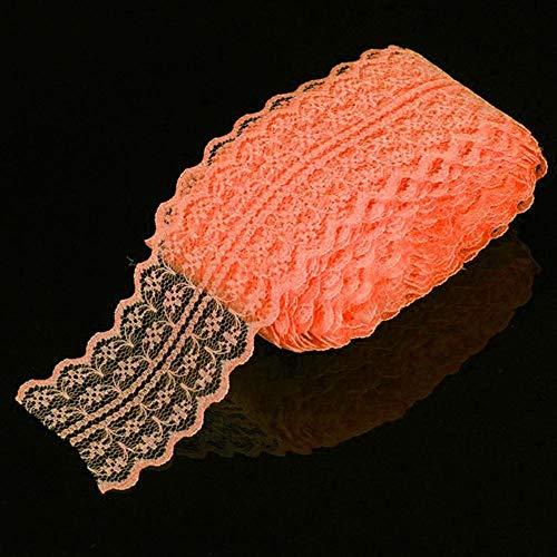 DACCU 10yards / Lot 45MM kant linten band DIY gestikt net-wit kant net-touw voor naaien decoratie kant stof oranje