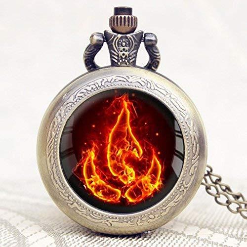 Avatar The Last Airbender Fire Firebend Taschenuhr, hochwertige Kette, tolles Geschenk