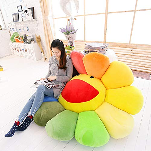 N / A 1pc super big Plush Sun Flowers Pillow Soft Toy Stuffed Toy Plush Mats Meditation Cushion Floor Cushions for Kids 50cm