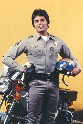 Erik Estrada Chips Color By Motorbike 24X36 Poster