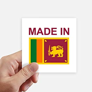 DIYthinker Made in Sri Lanka Country Love Square Stickers 10cm Wall Suitcase Laptop Motobike Decal 8pcs