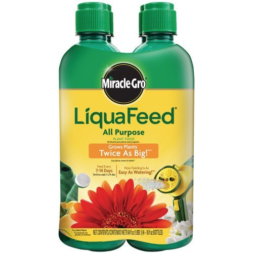 Miracle Gro 1004325 16 Oz LiquaFeed Plant Food Refill Bottles 12-4-8 4 Count -  Miracle-Gro
