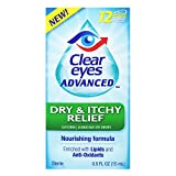 Clear Eyes Eye Drops, Advanced Dry & Itchy Eye Relief, 0.5 oz