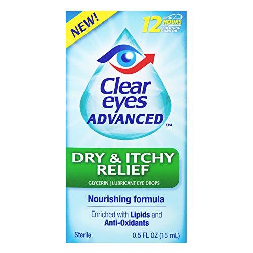 Clear Eyes Eye Drops, Advanced Dry & Itchy Eye Relief, 0.5 oz