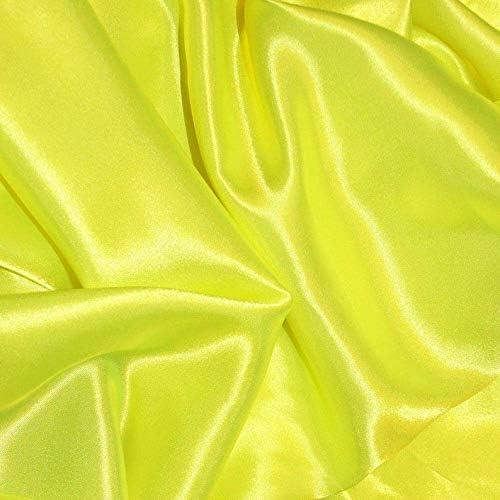 Shree Ganesh Fabrics Flo Topics on TV Yellow Max 44% OFF Silky S Fabric Dress Satin Plain