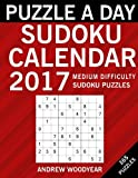Puzzle A Day Sudoku Calendar 2017: 365 Medium Puzzles (2017 Sudoku Calendar Books For Adults) (Volume 2)