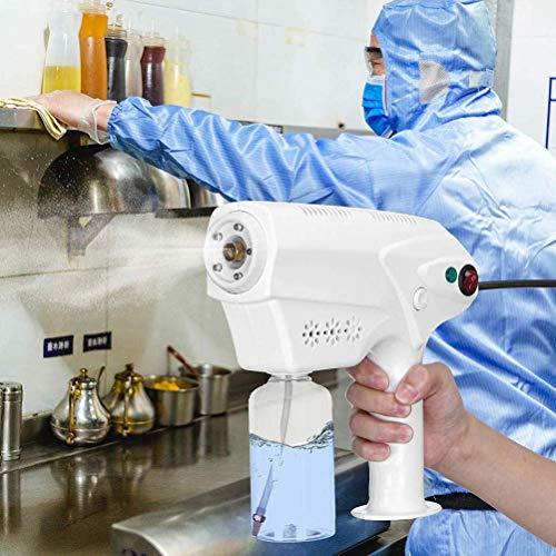 KMILE Pulverizador electrostático de mano Nano atomizador eléctrico, rociador atomizador, pistola de pulverización Nano luz azul 1300W 260ML, humidificador de pulverización ampliamente utiliza