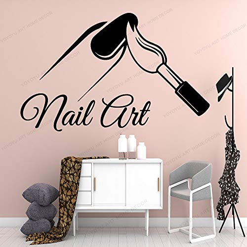 Nagelsalon kunst Muurstickers Moderne muursticker voor salon Manicure decoratie Wall Art decal Q