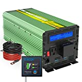 EDECOA Pure Sine Wave Power Inverter 2500W Peak 5000W DC 12V to 120V AC with LCD Display Dual USB and Remote Switch