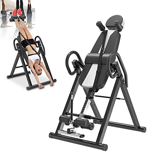 Find Bargain Gravity Heavy Duty Inversion Table, Gravity Trainer with Headrest & Adjustable Protecti...