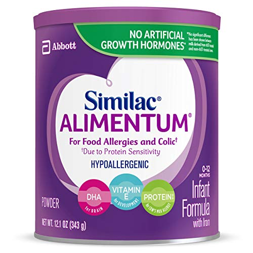Image of Similac Alimentum Hypoallergenic Infant Formula for Food Allergies and Colic, Baby Formula, Powder, 12.1 ounces (Pack of 6)