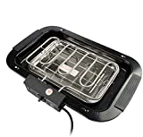 Indoor Grill Electric Grill Griddle Deoxys Smokeless Grill, Portable Korean BBQ Grill with Turbo Smoke Extractor Technology, Non-stick Removable Plates, Dishwasher-Safe, Tempered Glass Lid, 2000W