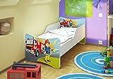 Best For Kids BFK Babybett Kinderbett mit Schaummatratze mit TÜV Zertifiziert Jugendbett 70x140 + Matratze + Lattenrost (Feuerwehr)
