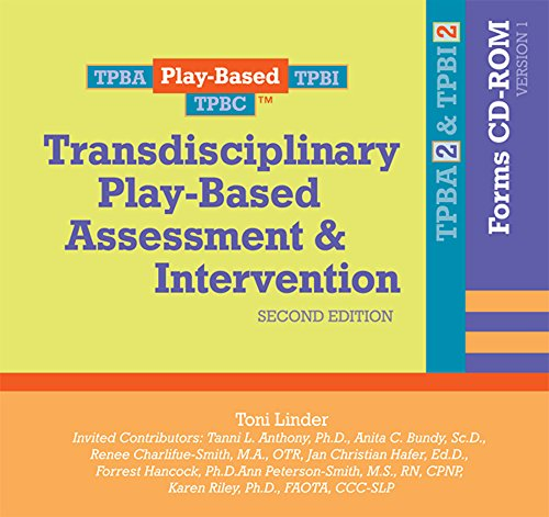 Transdisciplinary Play Based Assessment Intervention Tpba I2 Forms Cd Rom