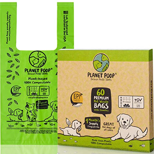Compostable Dog Poop Bag, Pet Waste Bags with E...