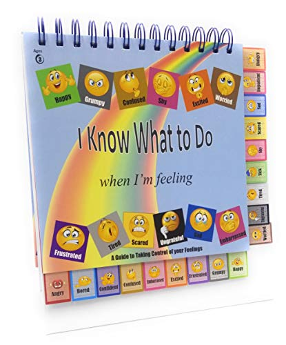I Know What to Do Cards for Taking Control of Your Feelings/Emotions; Autism; ADHD; Helps Kids Identify Feelings and Make Positive Choices; Hardcover and Laminated; Tabs Help Locate Feelings/Emotion