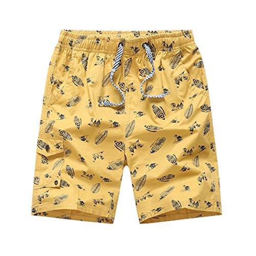 Black Temptation Short en Coton Shorts décontractés Pantalons Courts pour Hommes Short de Voyage pour Hommes, A