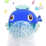 aovowog Baby Bath Bubble Machine,Automatic Music Bubble Machine Blowing Bubbles Maker Blower Tub Toys ,Big Whale Water Toys with 20 Pure Music Songs for for Baby Boys, Girls