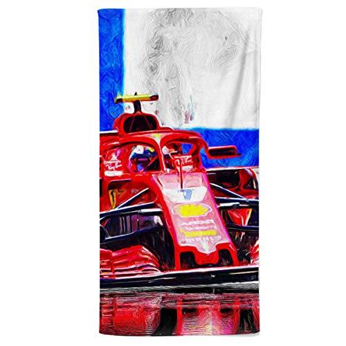 fotobar!style Handtuch 50 x 100 cm 2018 noch in Ferrari-Diensten, fährt der Finne Kimi Räikkönen.ab 2019 für das Team Sauber.