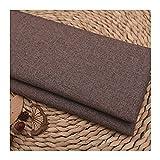 LIJINGYU Lino Puro Tela de Lino Natural para Confeccionar Ropa, Lino Fabraic para tapicería, decoración de macetas y Mantel, Marron Oscuro (Color : Dark Brown, Size : 1.5×2m)
