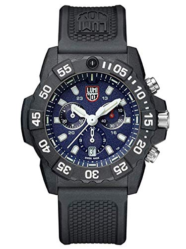 Luminox Navy Seal Chronograph Herren Armbanduhr (XS.3583), Swiss Made, energieunabhängiges Beleuchtungssystem, Datumsanzeige, Taucherlünette