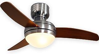 LOWYA 照明 シーリングファンライト シーリングライト LED ブラウン ウォルナット