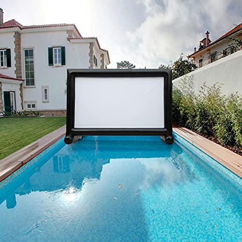 OZIS 20Ft Inflatable Movie Screen Outdoor - Made of PVC Airtight Waterproof - Supports Front and Rear Projection - Indoor and Outdoor Blow up Movie Projector Screen with Carry Bag