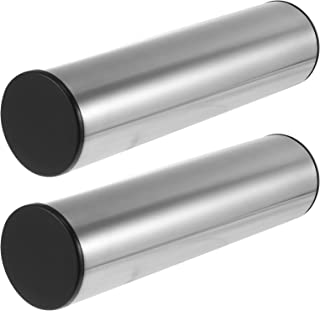 Generic 2pcs Metal Sand Drum Stainless Steel Cylinder Sand Shaker Rhythm Percussion Musical Instruments (Silver)