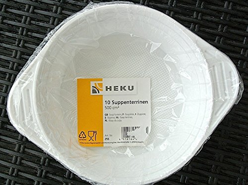 10 Suppenterrinen weiss Kunststoff 500ml