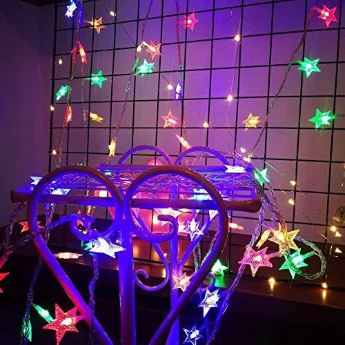 LDD-cld LED-Vorhang-Licht Fensterheber-Fee-Licht mit 8 Modi Wasserdicht, verwendet für Outdoor Indoor Hochzeit Garten Schlafzimmer Dekoration (Multicolor)