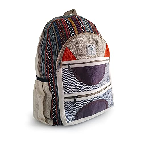 Desconocido Mochila de cañamo Himalayan THC Free, hecha en Nepal, ideal para viajes, escuela