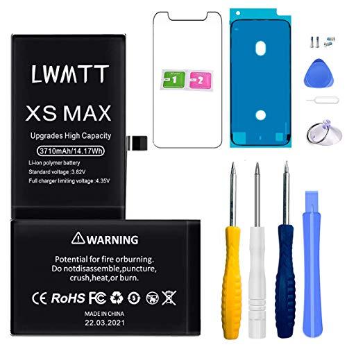 LWMTT Batterie Haut Capacité Interne Compatible pour iPhone XS Max 3170mAh Batterie Lithium-ION Rechargeable avec Kits d'outil de Réparation,Ruban Adhésif Stickers