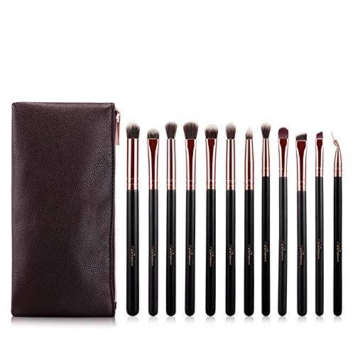 EVFIT Pinceaux à Maquillage Maquillage Rose Or Ombre à paupières Brosse de l'oeil Professionnel Pack Brosse Ensemble Complet d'outils de Maquillage (Color : Rose Gold, Size : One Size)