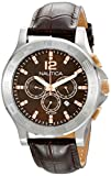 Nautica Unisex N22620G NCS 801 'Classic' Stainless Steel Watch with Brown Leather Band
